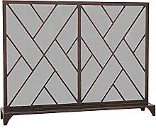 DGHJK Fireplace Screens Antique Copper Fire Screen