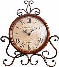 DGSFES Vintage Mantel Clock,Classy Country Desk