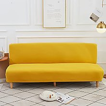 DGSGBAS Armless Sofa Bed Cover 3 Seater Spandex