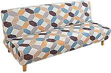 DGSGBAS Armless Sofa Slipcover Sofa Bed Cover