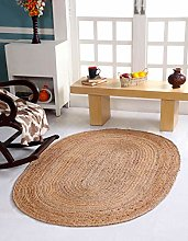 Dhaka Large Oval Braided Rug Hand Woven with