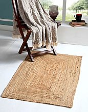 DHAKA Small Braided Area Rug Hand Woven with