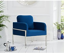 Dhaval Armchair Wade Logan Upholstery Colour: Blue