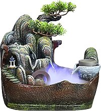 dhcsf Tabletop Fountain 12.9 Inch Rockery Water