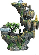 dhcsf Tabletop Fountain Waterfall Rockery Water