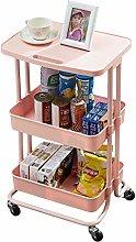 DHHZRKJ 3 Tier Utility Rolling Cart, Kitchen