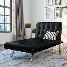 DHP Sofa Bed, Metal, Black, (H) 83 x (W) 157 x (D)