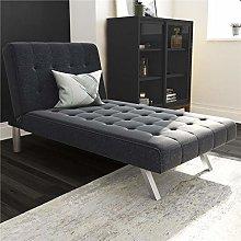 DHP Sofa Bed, Metal, Navy Blue, (H) 83 x (W) 157 x