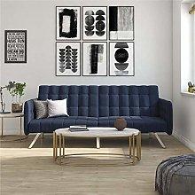 DHP Sofa Bed, Metal, Navy Blue, (H) 84 x (W) 195 x
