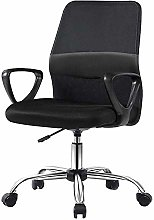 DHTOMC Ergonomic Office Chair with Fixed Armrest,