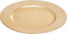 Dia Gold Charger Plate with Hammered Rim/ Plate
