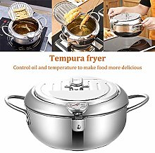 Dia20.5cm (8.07 in) Deep Fryer with Thermometer