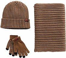 Diadia 3-Pieces Winter Beanie Hat Scarf Set Warm