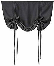 Diadia Beauty Roman Curtain Short Sheer Tie Up