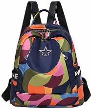 Diadia Newest Colorblock Oxford Cloth Backpack,