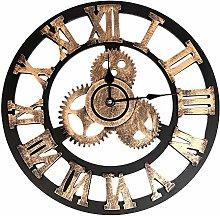 Diadia Wall Clock Industrial Style Vintage Clock