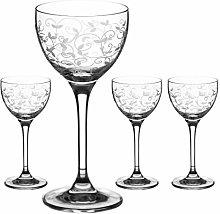 DIAMANTE Crystal 150ml Glasses | Long Stem Shot