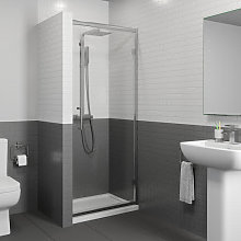 Diamond 1000mm Hinged Shower Door - 8mm Glass with