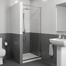 Diamond 800mm Hinged Shower Door - 8mm Glass with