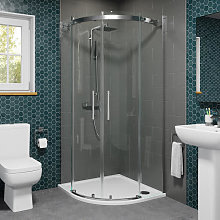 Diamond 900mm Frameless Quadrant Shower Enclosure
