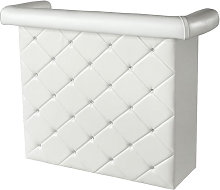 Diamond Bar Unit In White Faux Leather With