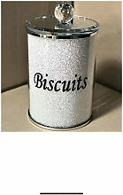 Diamond Crushed Biscuit Cookies Canister Jar Tin