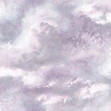 Diamond Galaxy Cloud Wallpaper Lilac Glitter
