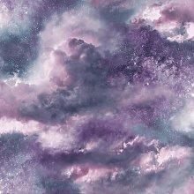Diamond Galaxy Cloud Wallpaper Purple Glitter