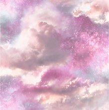 Diamond Galaxy Wallpaper, Purple/Blush - 260009 -