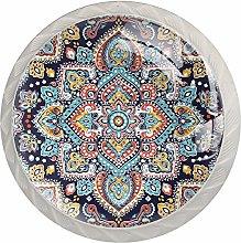 Diamond Mandala Drawer Round Knobs Cabinet Pull