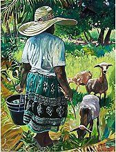 Diamond Painting by Number Kits Girl and Animal