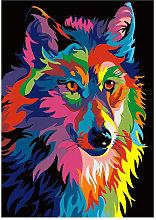 Diamond Painting DIY 5D Wolf Diamond Painting Cube