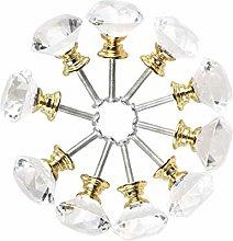 Diamond Shape Crystal Glass 30mm Kitchen Cabinet