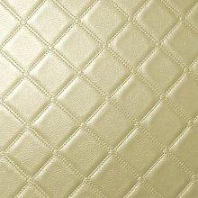 Diamond Square Stitch Cream Faux Leather