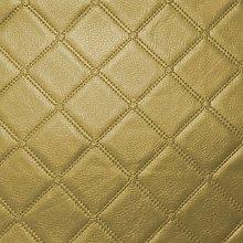 Diamond Square Stitch Gold Faux Leather