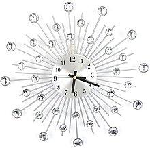 Diamond-Studded Clock, Modern Round Design Diamond