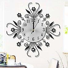 Diamond-studded Metal Wall Clock, Modern Fashion