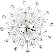 Diamond-studded Wall Clock, Silver Wall Clock, for