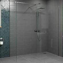 Diamond Wet Room Screens 1000mm and 700mm - 8mm