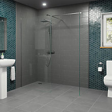Diamond Wet Room Screens 1000mm and 900mm - 8mm