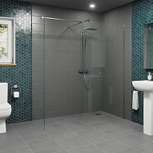 Diamond Wet Room Screens 1100mm and 800mm - 8mm