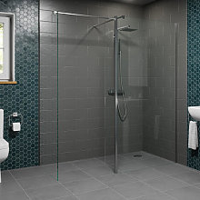 Diamond Wet Room Screens 1100mm and 900mm with