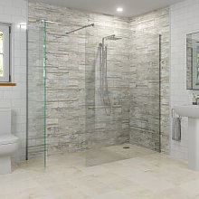 Diamond Wet Room Screens 1200mm and 800mm - 8mm