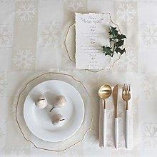 Diana Cowpe CREAM & GOLD Merry Christmas XMAS