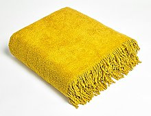 Diana Cowpe Gold 100% Cotton Chenille Tablecloth