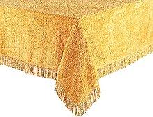 Diana Cowpe Gold 100% Cotton Chenille Tablecloth