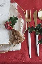 Diana Cowpe Red Merry Christmas XMAS Snowflake
