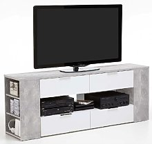 Diana LCD TV Stand In Sand Oak And White With 4