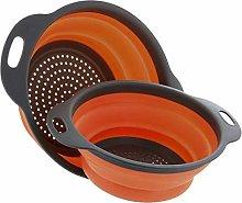 DIAZ Kitchen Folding Strainer Bowls Drain water