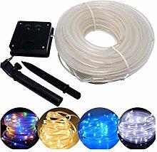 DIBAO Solar Rope String Lights 12M 100 LED Tube